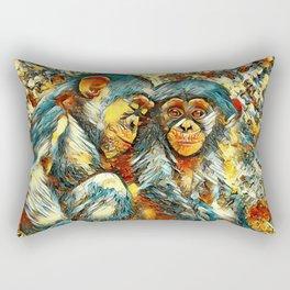 AnimalArt_Chimpanzee_20170601_byJAMColorsSpecial Rectangular Pillow