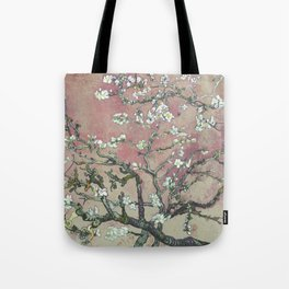 Almond Blossom - Vincent Van Gogh (pink pastel and cream) Tote Bag