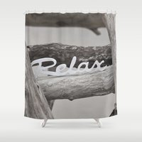 relax Shower Curtains featuring Relax by LebensART Photography