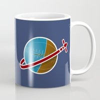 spaceship Mugs featuring Spaceship! by JeffMcDowallDesign