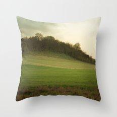 green meadows Throw Pillow