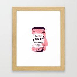 OH, HONEY - PINK Framed Art Print