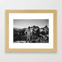 Mountain Backside Framed Art Print
