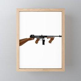 Tommy Gun Framed Mini Art Print