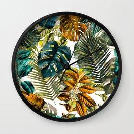 Tropical Garden IV Wall Clock