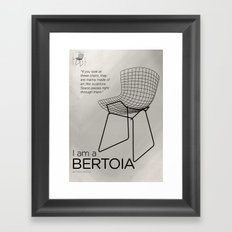 Chairs - A tribute to seats: I'm a Bertoia (poster) Framed Art Print