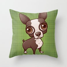 Zippy the Boston Terrier Throw Pillow