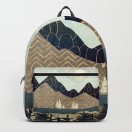 Indigo Forest with Gold Backpack