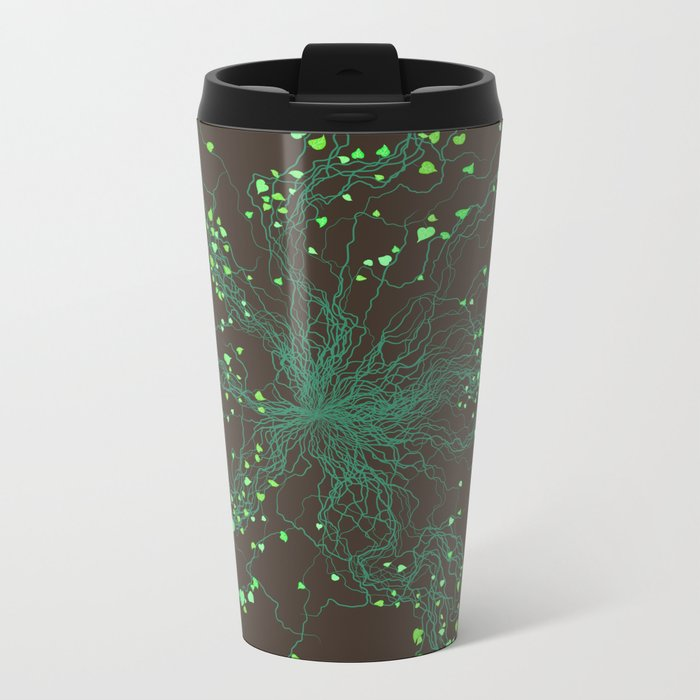 Nature will find a way Metal Travel Mug