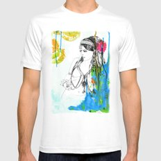 Tribal Beauty 6 White Mens Fitted Tee MEDIUM