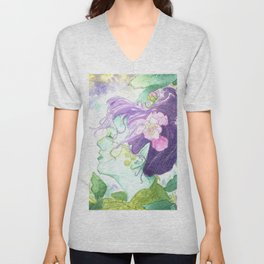 The Blackberry Faery Unisex V-Neck