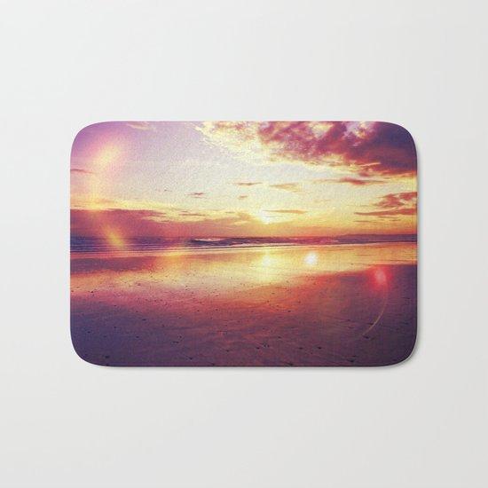 Tropical sunset on a calm beach Bath Mat