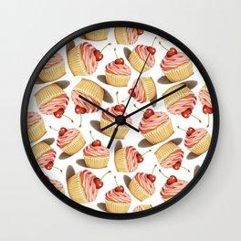 Pink Cupcakes Wall Clock