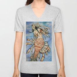 Lionfish Mermaid Unisex V-Neck