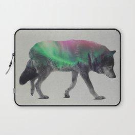Wolf In The Aurora Borealis Laptop Sleeve