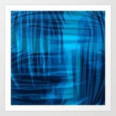 Blue wrinkles Art Print