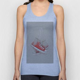 red sneakers Unisex Tank Top