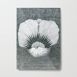 Flower In The Night Metal Print