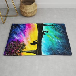 Two Different Worlds II Rug