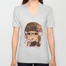 JAVA JOANNA  Unisex V-Neck