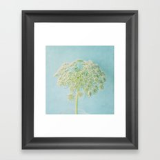 Lace in Blue Framed Art Print