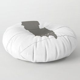 New Jersey is Home - Charcoal on White Wood Floor Pillow