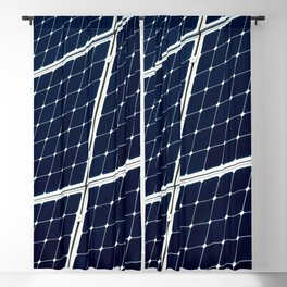 Image Of A Photovoltaic Solar Battery. Free Clean Energy For Everyone Blackout Curtain