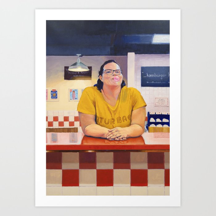Discover the motif BLANCA AT FIVE GUYS by Alexander Grahovsky as a print at TOPPOSTER