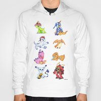 digimon Hoodies featuring Digimon Group by Catus