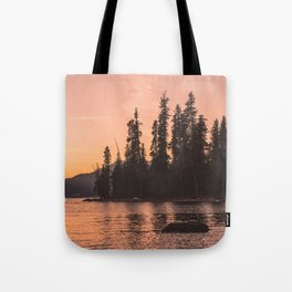 Forest Island at the Lake - Nature Photography Tote Bag