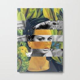 Frida Kahlo's Self Portrait with Bonito & Sophia Loren Metal Print