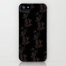 Oak & Hellebore Pattern iPhone Case