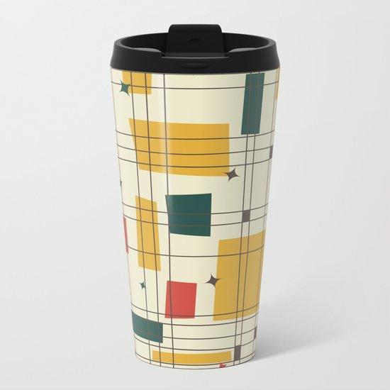 Mid-Century Modern (gold) Metal Travel Mug