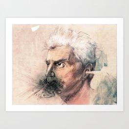 I'm a real live wire. - David Byrne Portrait Art Print