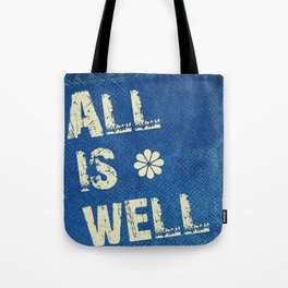 All Is Well - Blue Geni-ism Series Tote Bag