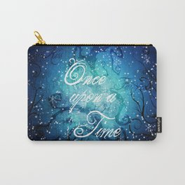 Once Upon A Time ~ Winter Snow Fairytale Forest Carry-All Pouch