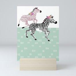 Graphic Zebras Soft Palette Mini Art Print