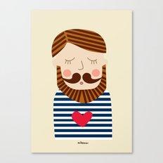 Bearded Sailor Lover Canvas Print