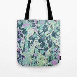 Sunken Forest marbleized print Tote Bag