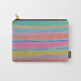 Rainbow Row Abstract Carry-All Pouch