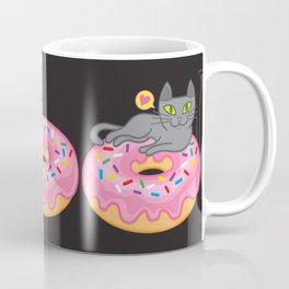 My cat loves donuts 2 Coffee Mug