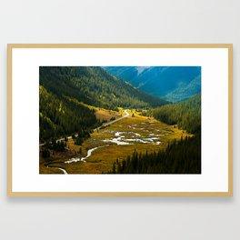 Independence Pass, Colorado. Framed Art Print
