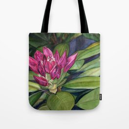Rhododendron Bud Tote Bag