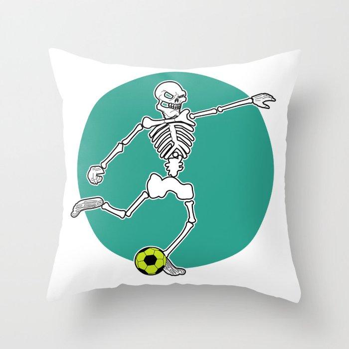 Calavera Soccer Throw Pillow