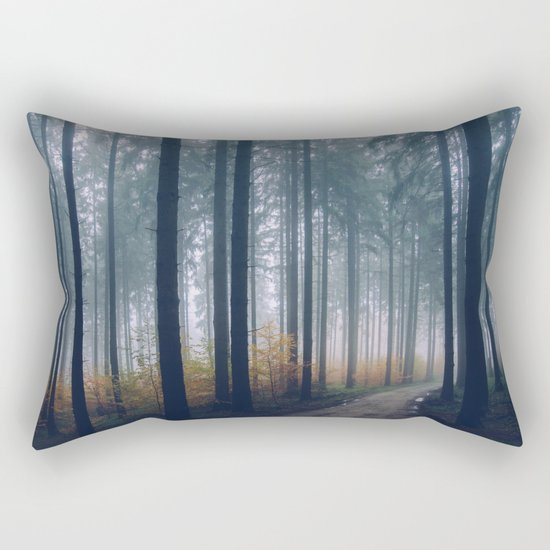 Into the woods #fog Rectangular Pillow