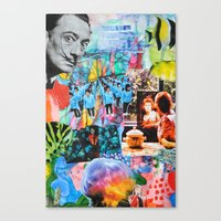 salvador dali Canvas Prints featuring Salvador Dali by John Turck