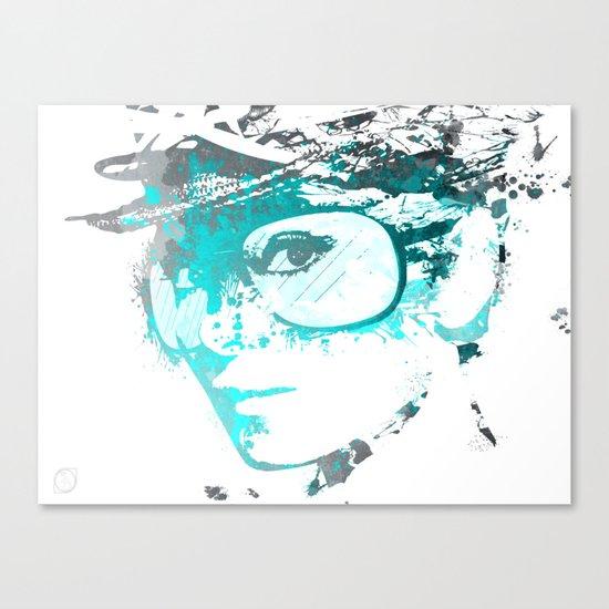 Audrey splash Cool Blue Canvas Print