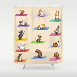 The Yoguineas - Yoga Guinea Pigs - Namast-hay! Shower Curtain