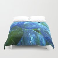 glass Duvet Covers featuring Glass by Tobias Bowman