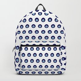 Blue Evil Eye Bead Pattern Backpack